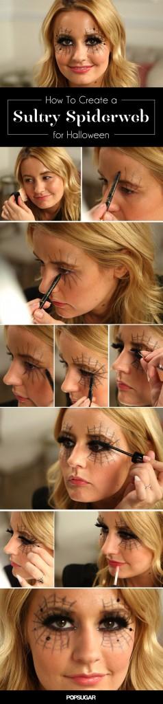 Maquillaje facial telaraña