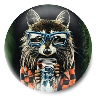 mapache hipster