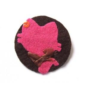 Broche textil Gato 2