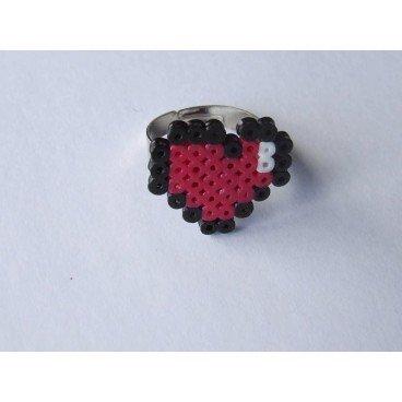 Anillo pixel-art corazon