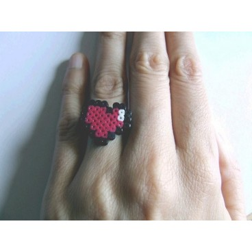Anillo pixel-art corazon