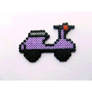 Broche Pixel-Art Moto Scooter