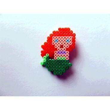 Broche Pixel-Art Sirenita