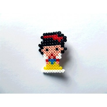 Broche Pixel-Art Blancanieves