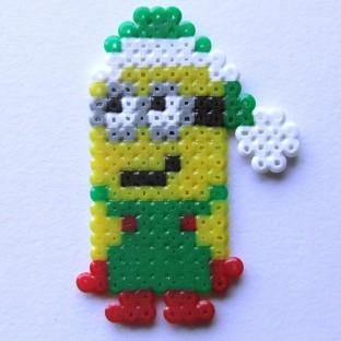 """Minion navidad """"Gru mi villano favorito"""" pixel-art"""