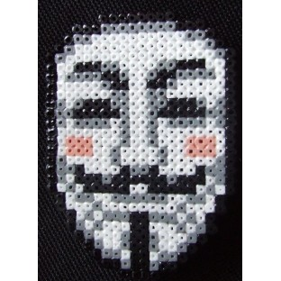 Broche PixelArt Anonymous / V for Vendetta