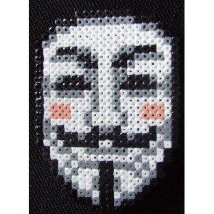 Broche PixelArt Anonymous / V for Vendetta