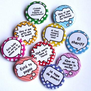 Chapas para bodas personalizadas con tus frases