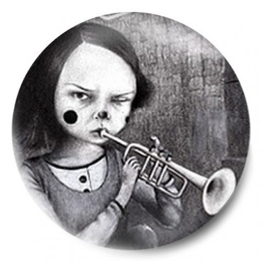 Niña Vintage trompeta
