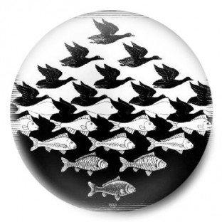 Escher Aves y peces