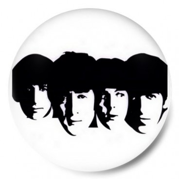 Beatles Heads B/W