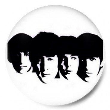 Beatles Heads B/W