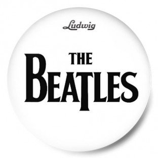 The Beatles Logo Blanco