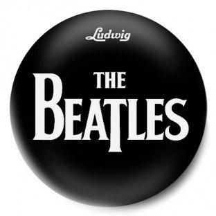 The Beatles Logo Negro
