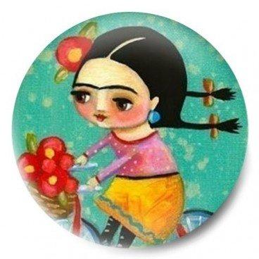 Frida Kahlo en bici dibujo