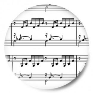 Partitura notas musicales