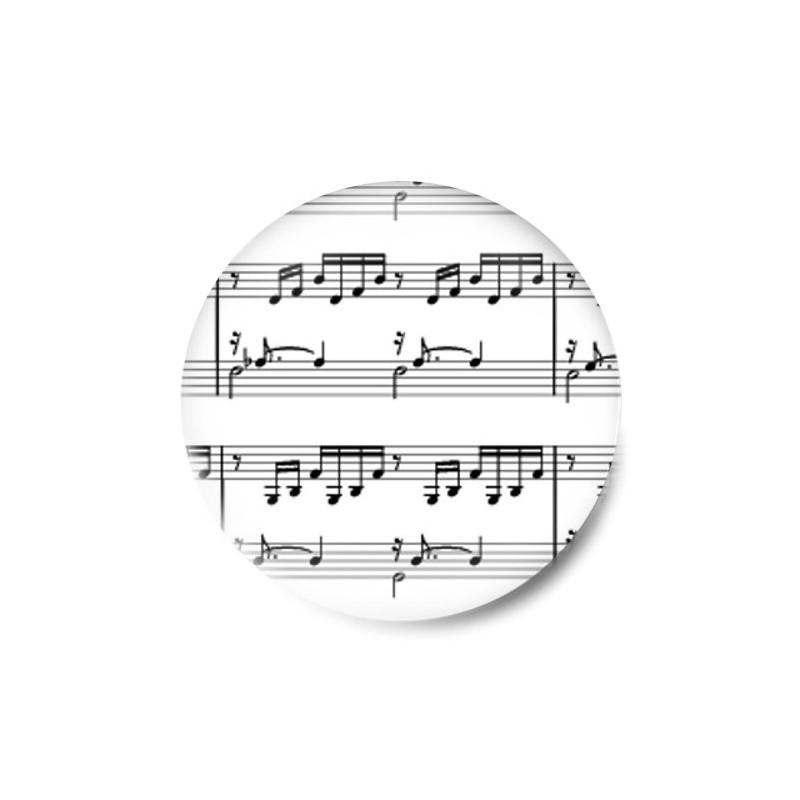Chapa Partitura Notas Musicales