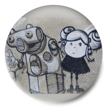 Street Art Niña y Robot