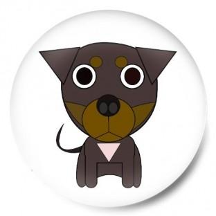 """Perrito negro """"Creta"""" dibujo"""