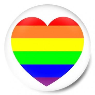 Corazon bandera orgullo gay