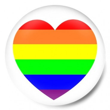 Corazon bandera orgullo gay