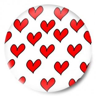 Mosaico corazones rojos