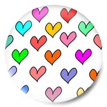 Mosaico corazones de colores