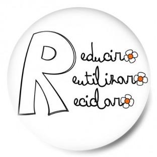 Las tres R margaritas (Reducir, Reutilizar y Reciclar)
