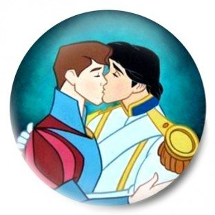 Principes Disney Gay beso