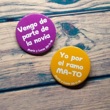 Chapas para bodas Color Party