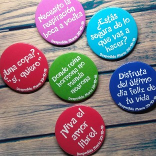 Chapas despedidas soltera pack despecolor