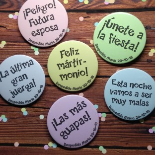 chapas despedida soltera despepastel