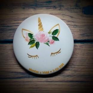 Chapas para bodas unicornio 2
