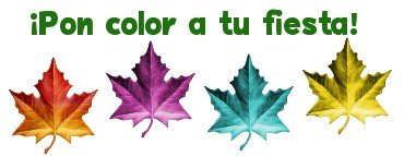 ¡Pon color a tu fiesta!